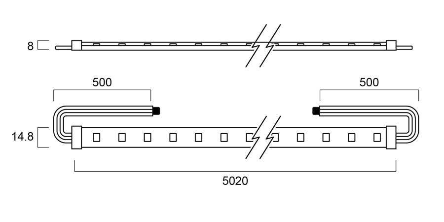 lumistrip sylvania lighting solutions technical drawing for 3036900
